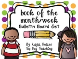 Book of the Month or Week Bulletin Board Set {Chevron and
