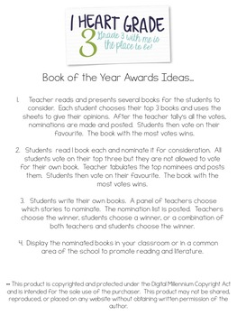 Book of the Year Awards Project