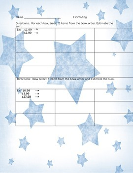 Estimation with book orders