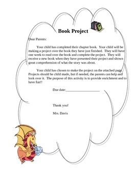 Book project explanation, choices, presentation, and grading