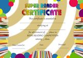 Book reading certificate