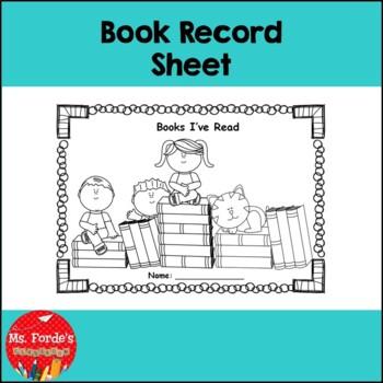 Book record sheet