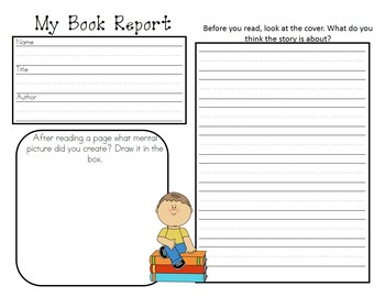 Book report Forms For Grades 1st-3rd