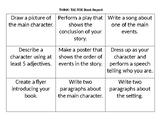 Book report choice board
