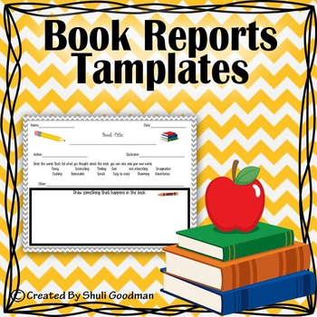 Book reports tamplates and more