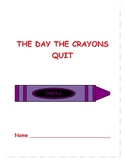 Book study, The Day The Crayons Quit,