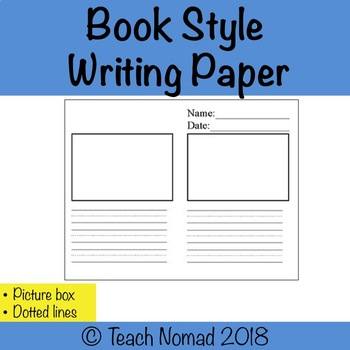 Book style lined paper (half page)