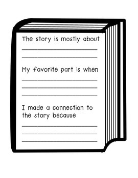 Book summary writing prompt- Writer's Workshop or centers