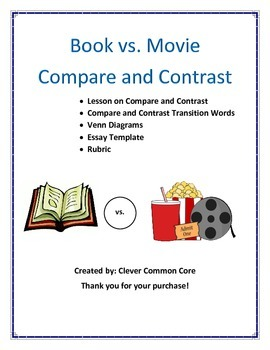 book vs movie compare and contrast essay writing by clevercommoncore movie compare and contrast essay writing