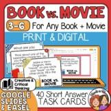 Book vs. Movie Question Cards Compare & Contrast Discussio