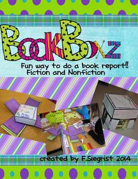 BookBOXZ~ Fiction and Nonfiction Book Report Project and Kit