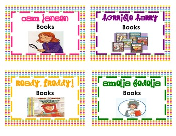 Book Basket Labels for any K-5 Library