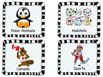 Book/Math Bin Labels Canadian ***Bestseller***