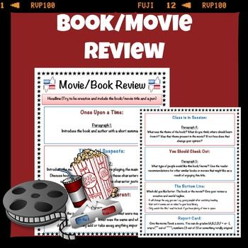 BookMovie Review Template By Mskcpotter  Teachers Pay Teachers