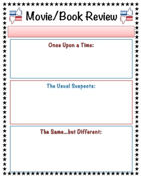 Film Review Template | Book Movie Review Template By Mskcpotter Teachers Pay Teachers