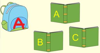 Bookbag Letters Smartboard