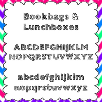 Bookbags and Lunchboxes Font {personal and commercial use;