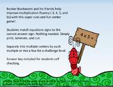 Booker Bookworm Multiplication Fluency Activity Center Gam