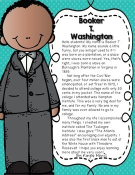 Booker T. Washington Black History Month Activities