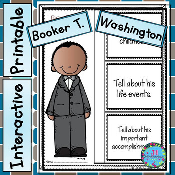 Booker T. Washington Writing - Great Black History Month Activity