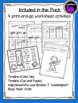 Booker T. Washington Activity Pack