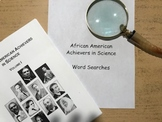 African American Achiever in Science- Booker T. Washington- Word Search