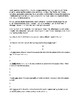Booker T Washington Biography Article and Assignment Worksheet