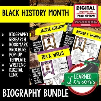 Booker T. Washington Biography Research, Bookmark Brochure, Pop-Up, Writing