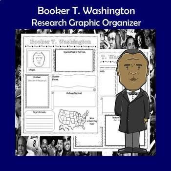 Booker T. Washington Biography Research Graphic Organizer