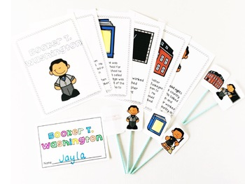 Booker T. Washington Black History Month Student Booklet & Retelling Puppets