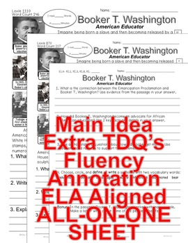 Booker T Washington FACTS differentiated 5 level passages Same content Info Text