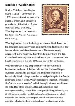 Booker T Washington Handout
