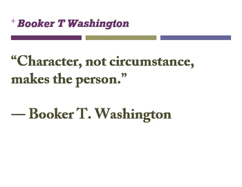 Booker T Washington QUOTES
