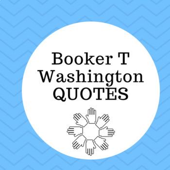 Booker T Washington QUOTES