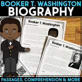 Booker T. Washington Reading Passage, Biography Report, Comprehension Activities
