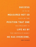 Booker T Washington Success Poster
