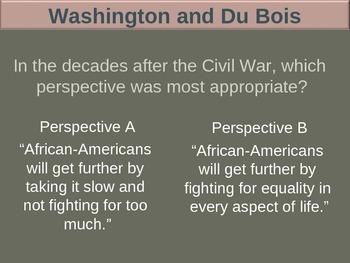Booker T Washington & WEB Du Bois (PART 1 COMPARISONS) visual, textual, engaging