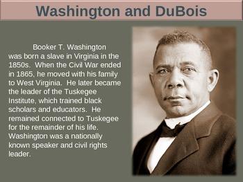 Booker T Washington & WEB Du Bois (PART 2 WASHINGTON) visu