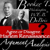 Booker T. Washington & W.E.B DuBois: Argument Analysis wit