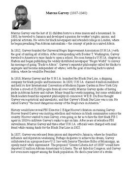 Booker T Washington, WEB DuBois, Marcus Garvey, Ida B Wells