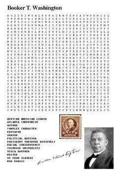 Booker T Washington Word Search