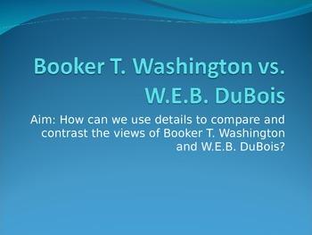 Booker T. Washington vs. W.E.B. DuBois PowerPoint