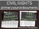 "Booker T Washington's ""Atlanta Speech"" AND DuBois Niagara Movement Speech"