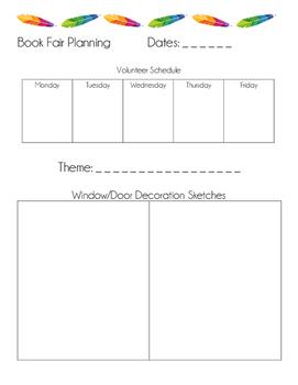 Bookfair Planning Sheets