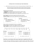 Introduction to Integers and basic operations with Integers