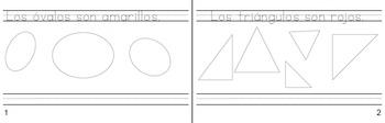 No folding or paper arranging!!! Booklet- Las formas y los colores
