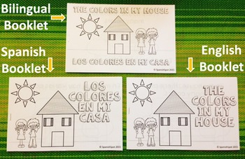 Booklet & Little Reader- English, Spanish, Fill-in-the-Bla