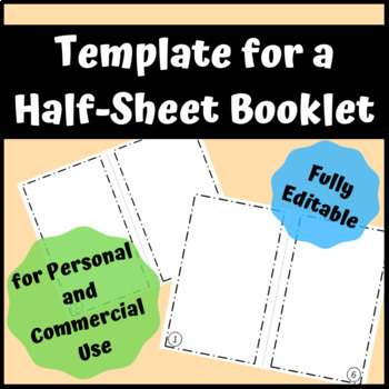 Booklet Template For Personal Or Commercial Use