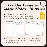 Booklet Template on Google Slides
