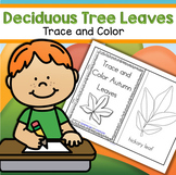 FALL Deciduous Leaves Trace and Color Discussion Go Outsid